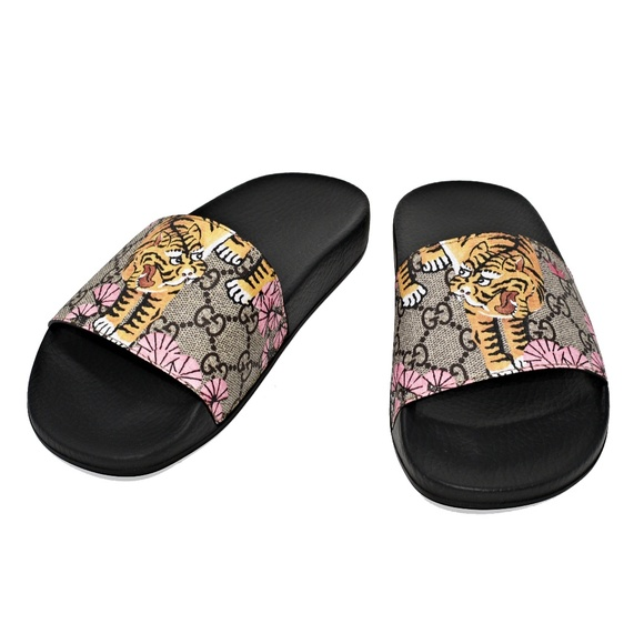 28b4672d74c2 NEW GUCCI WOMEN S BENGAL SLIDE SANDALS